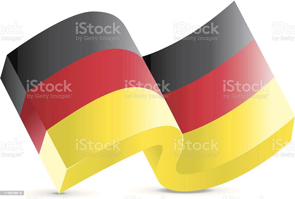 Flag Icon - German royalty-free stock vector art