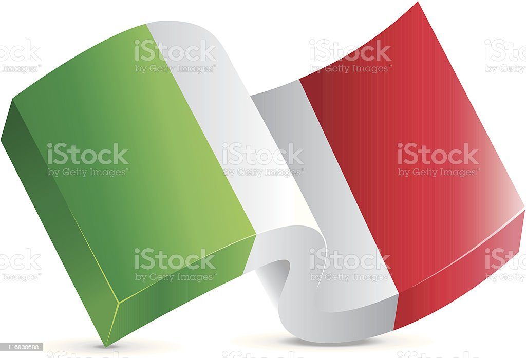 Flag Icon - Italy royalty-free stock vector art
