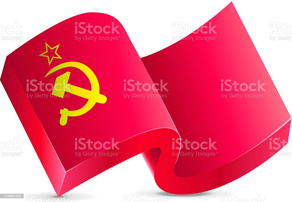 Flag Icon - USSR royalty-free flag icon ussr stock vector art & more images of color image