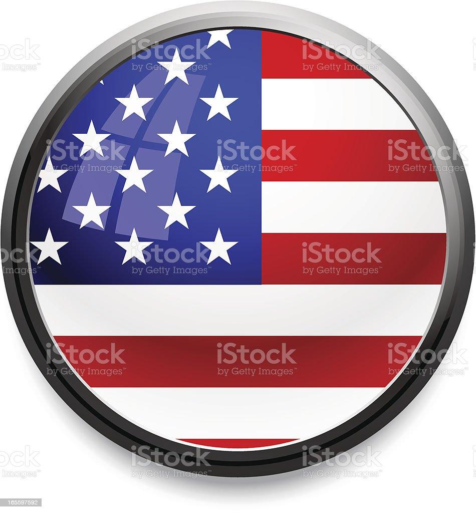 Icono bandera de los Estados Unidos (un crédito). ilustración de icono bandera de los estados unidos y más banco de imágenes de bandera libre de derechos