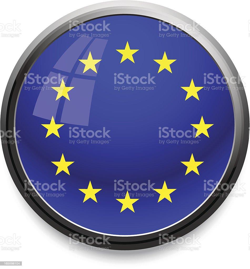 Icono de la bandera de la UE ilustración de icono de la bandera de la ue y más banco de imágenes de bandera libre de derechos