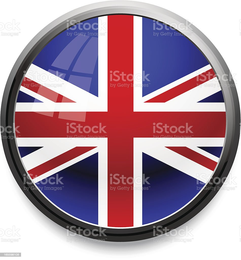 Ícone de bandeira do Reino Unido ilustração de Ícone de bandeira do reino unido e mais banco de imagens de azul royalty-free