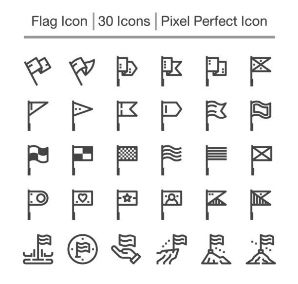 Flagge-Symbol  – Vektorgrafik