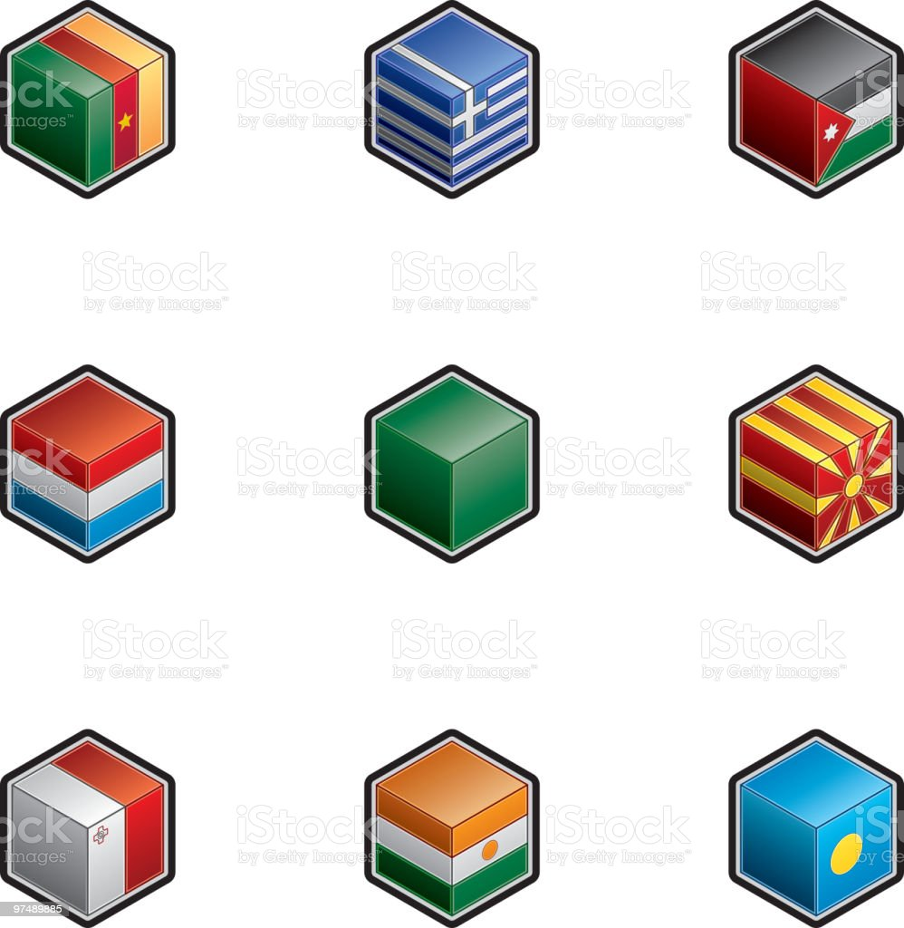 Flag Icons Set. Design Elements royalty-free flag icons set design elements stock vector art & more images of box - container