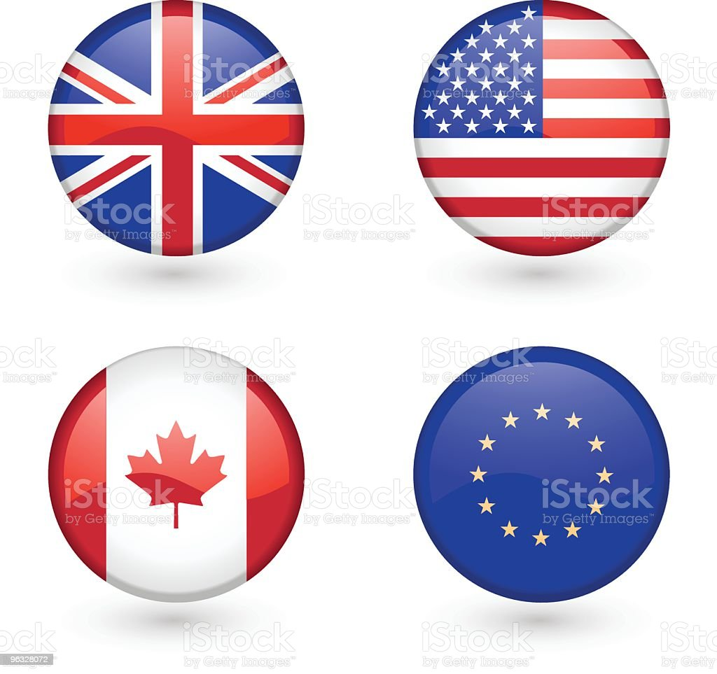 Flag icons royalty-free stock vector art