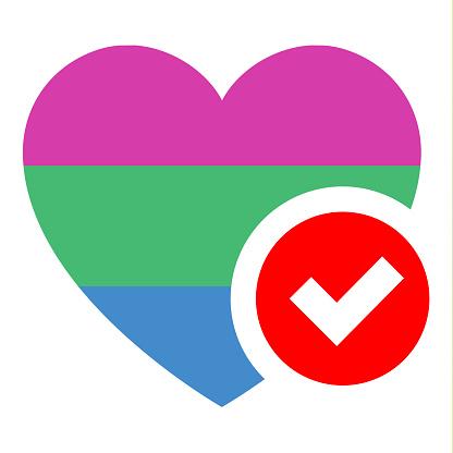 Flag in heart shape, vector illustration for your design
