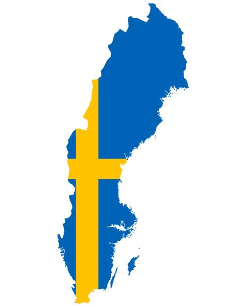 bildbanksillustrationer, clip art samt tecknat material och ikoner med flagga i karta över skottland - sweden map