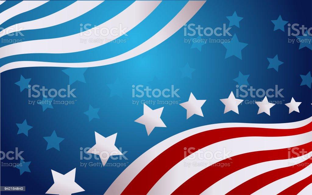 USA flag in style vector vector art illustration