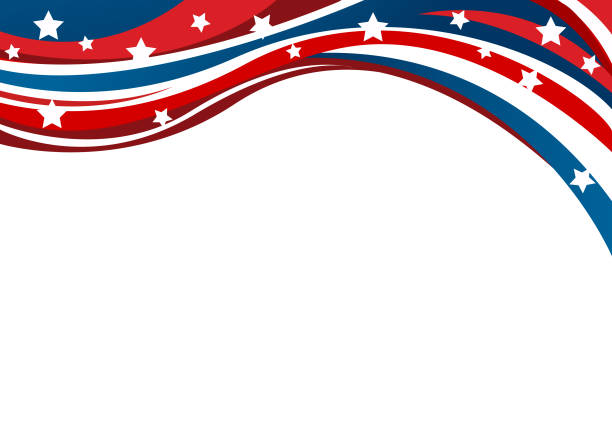 usa flag in style vector - fourth of july stock illustrations