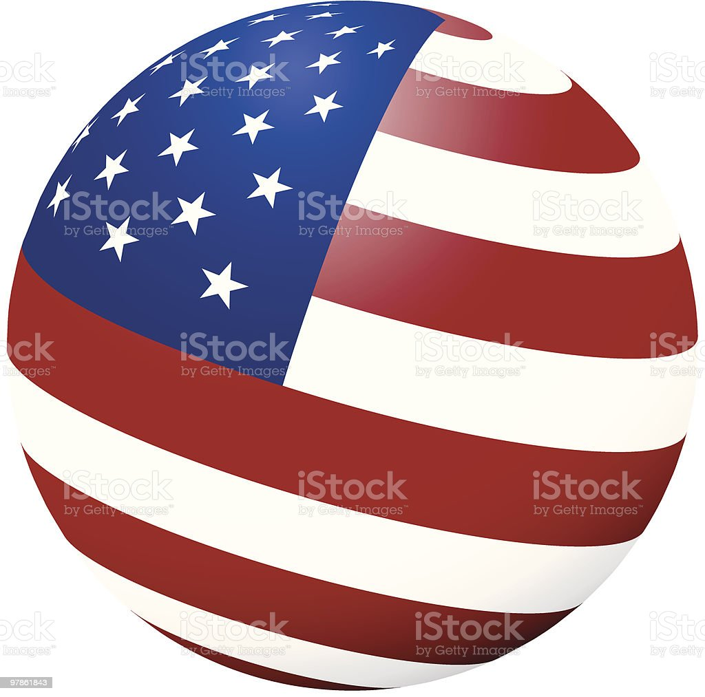Flag in the round (vector!) royalty-free stock vector art