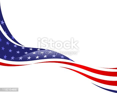 istock flag in wind 1152154697