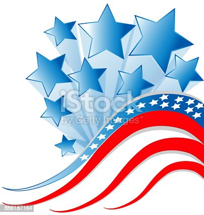 USA flag Independence day background. Vector illustration template