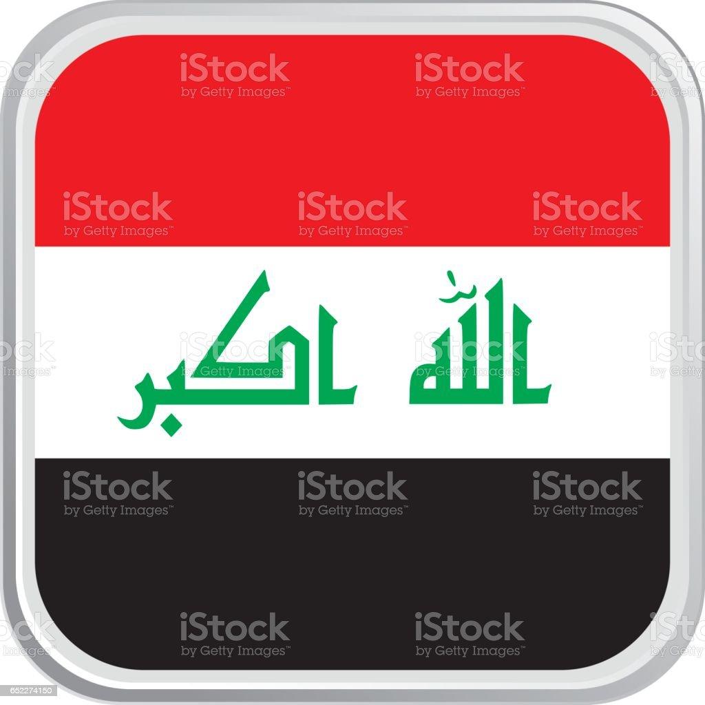 Flag Iraq vector art illustration