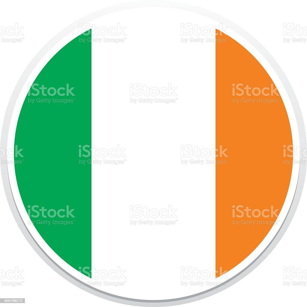 Flagge-Irland – Vektorgrafik