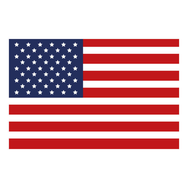 usa flag isolated icon - american flag stock illustrations