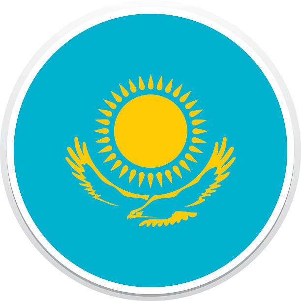 flagge kasachstan  - kasachstan stock-grafiken, -clipart, -cartoons und -symbole