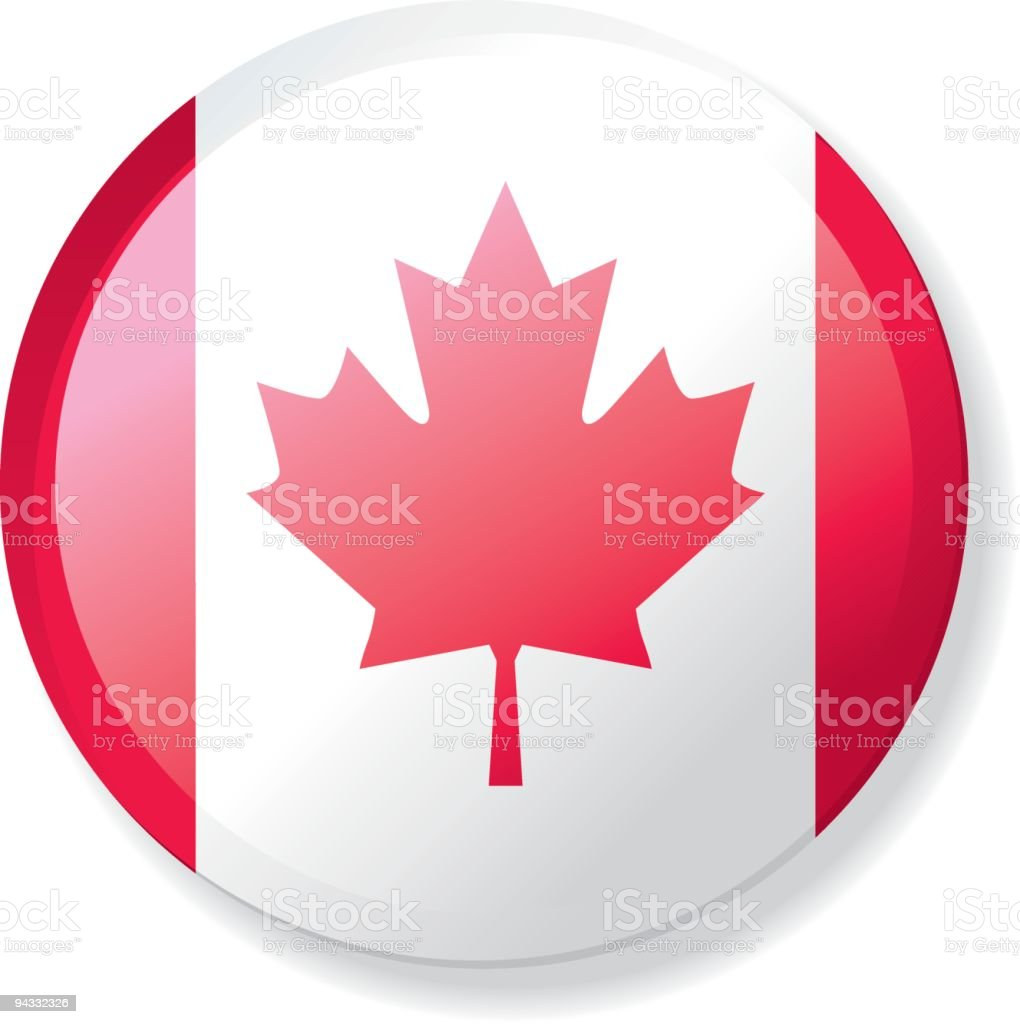 Flag Lapel Button - Canada royalty-free stock vector art