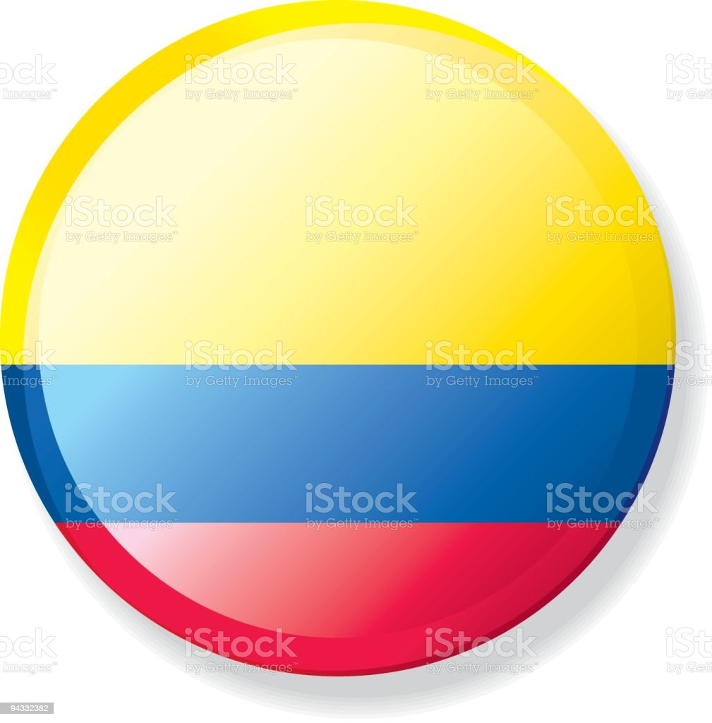 Flag Lapel Button - Colombia royalty-free stock vector art
