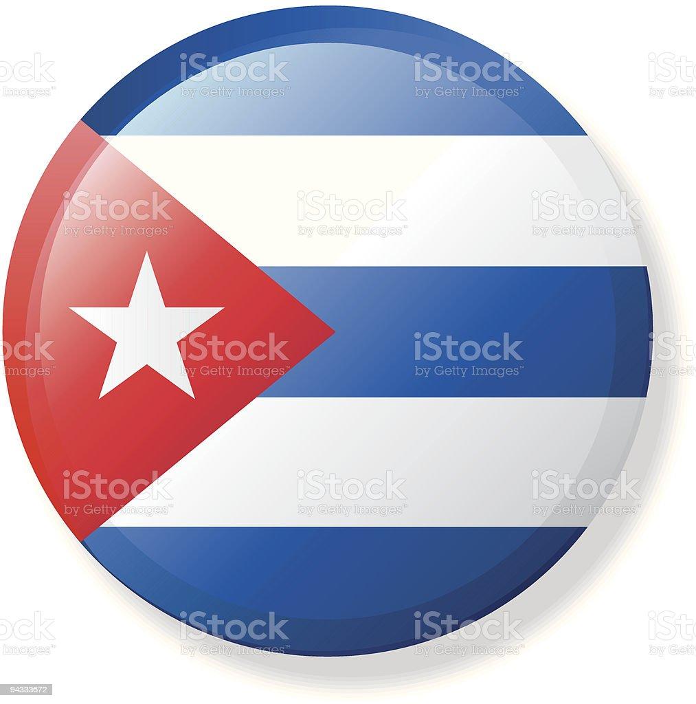 Flag Lapel Button - Cuba royalty-free stock vector art
