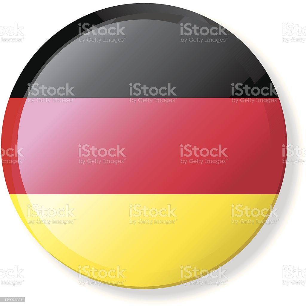 Flag Lapel Button - German royalty-free stock vector art