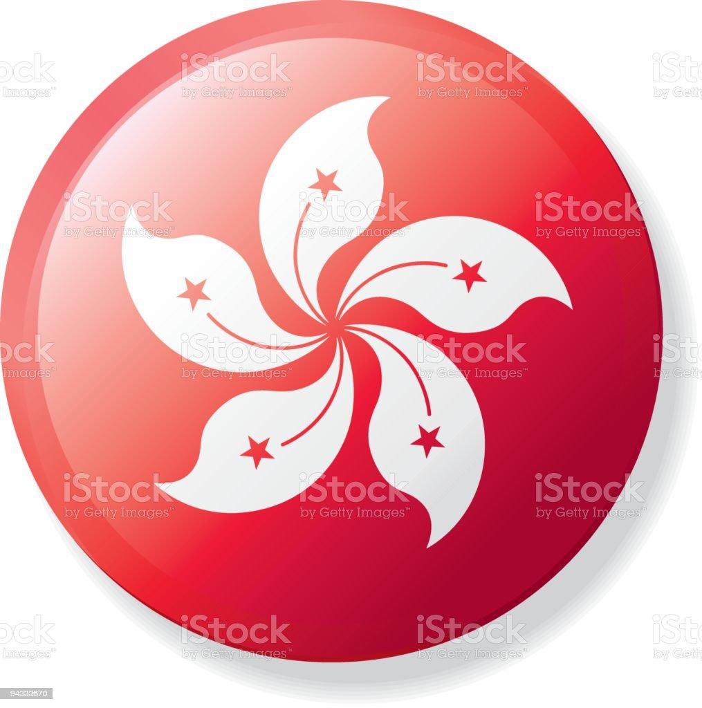 Flag Lapel Button - HongKong royalty-free flag lapel button hongkong stock vector art & more images of badge