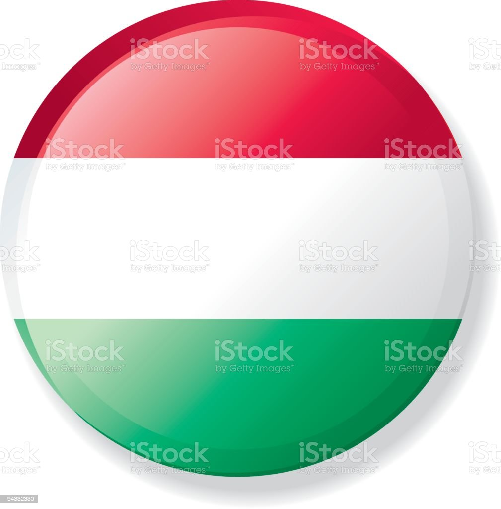 Flag Lapel Button - Hungary royalty-free stock vector art