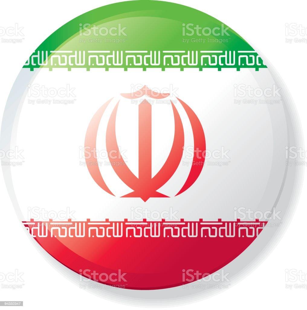 Botão de bandeira de lapela-Irã - ilustração de arte em vetor