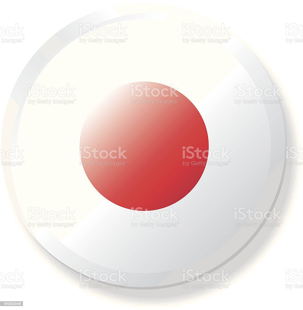 Flag Lapel Button - Japan royalty-free stock vector art