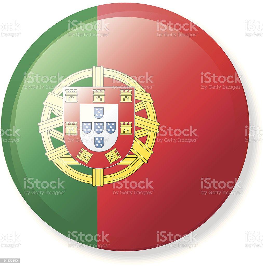 Lapela botão de Bandeira de Portugal - ilustração de arte vetorial