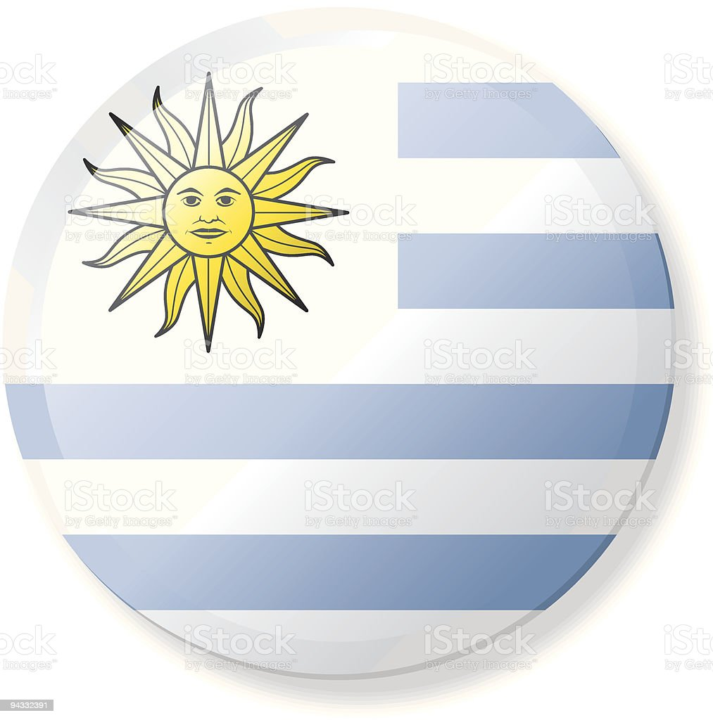 Flag Lapel Button - Uruguay royalty-free stock vector art