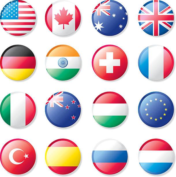 ilustraciones, imágenes clip art, dibujos animados e iconos de stock de botones de bandera de la solapa - bandera rusa