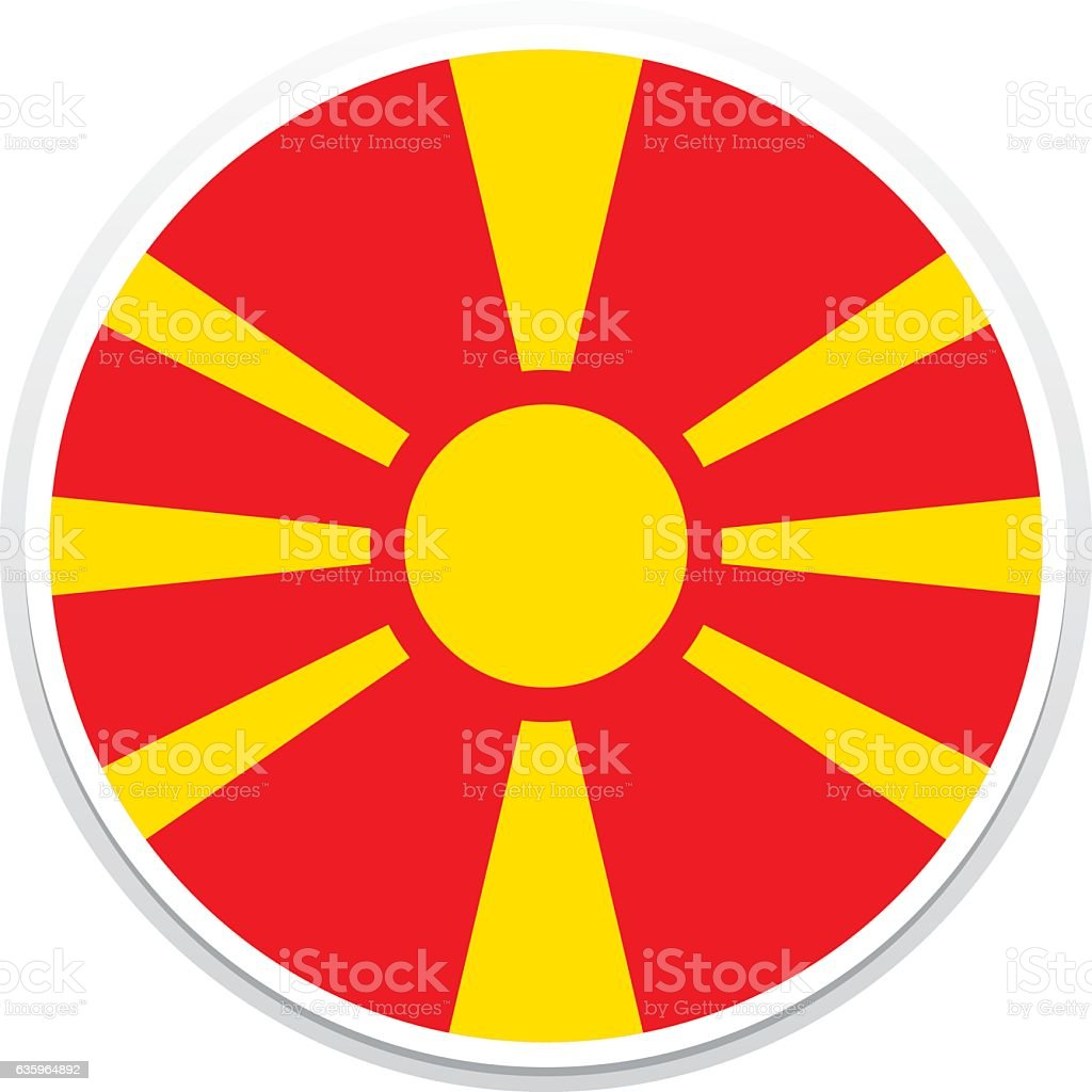 Flag Macedonia vector art illustration