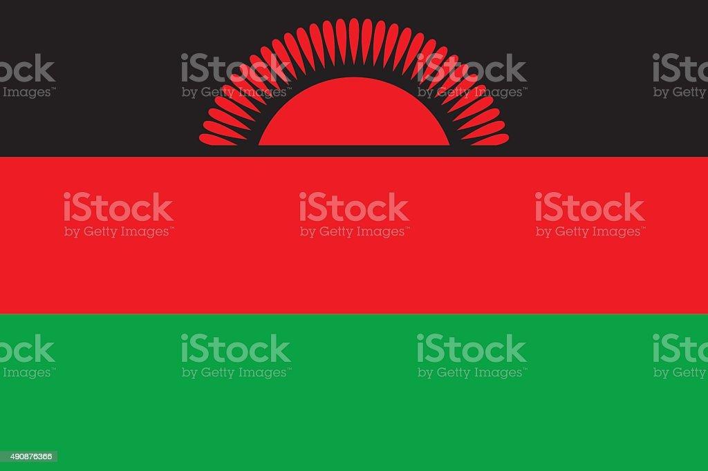 Flag Malawi vector art illustration