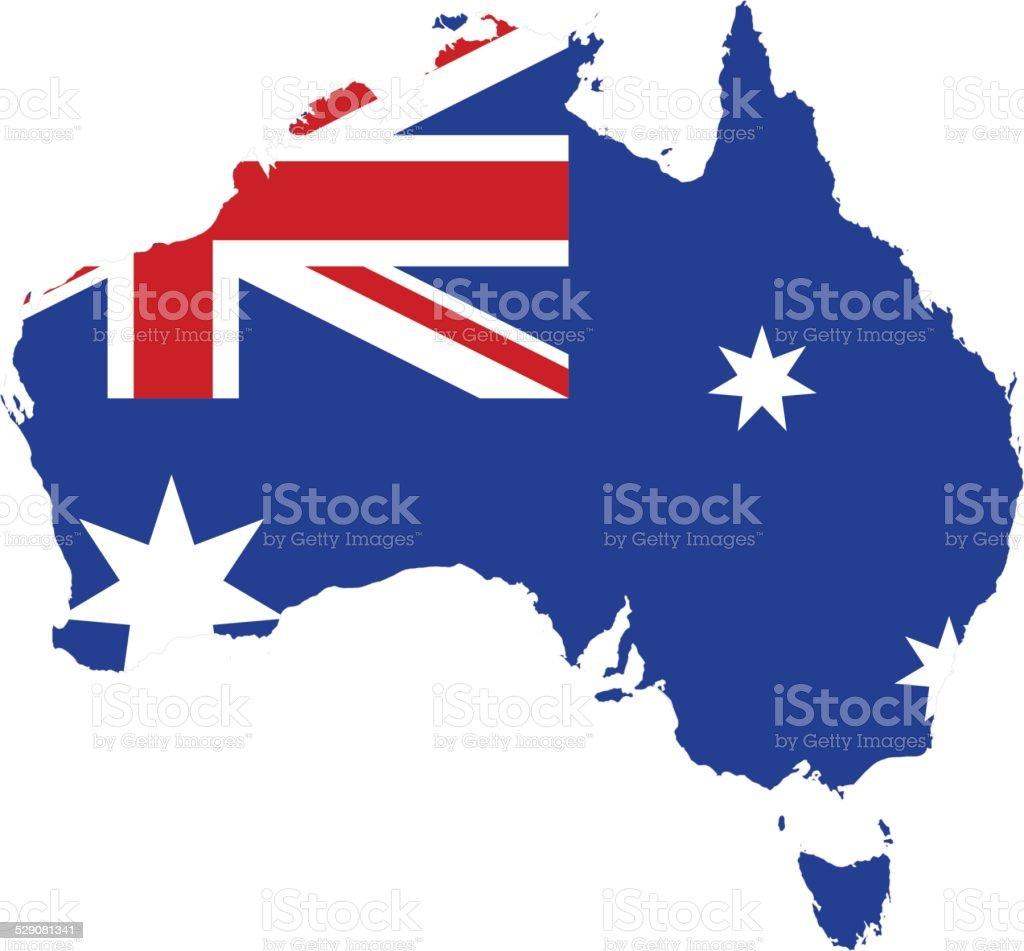 flag map of australia stock vector art 529081341 istock
