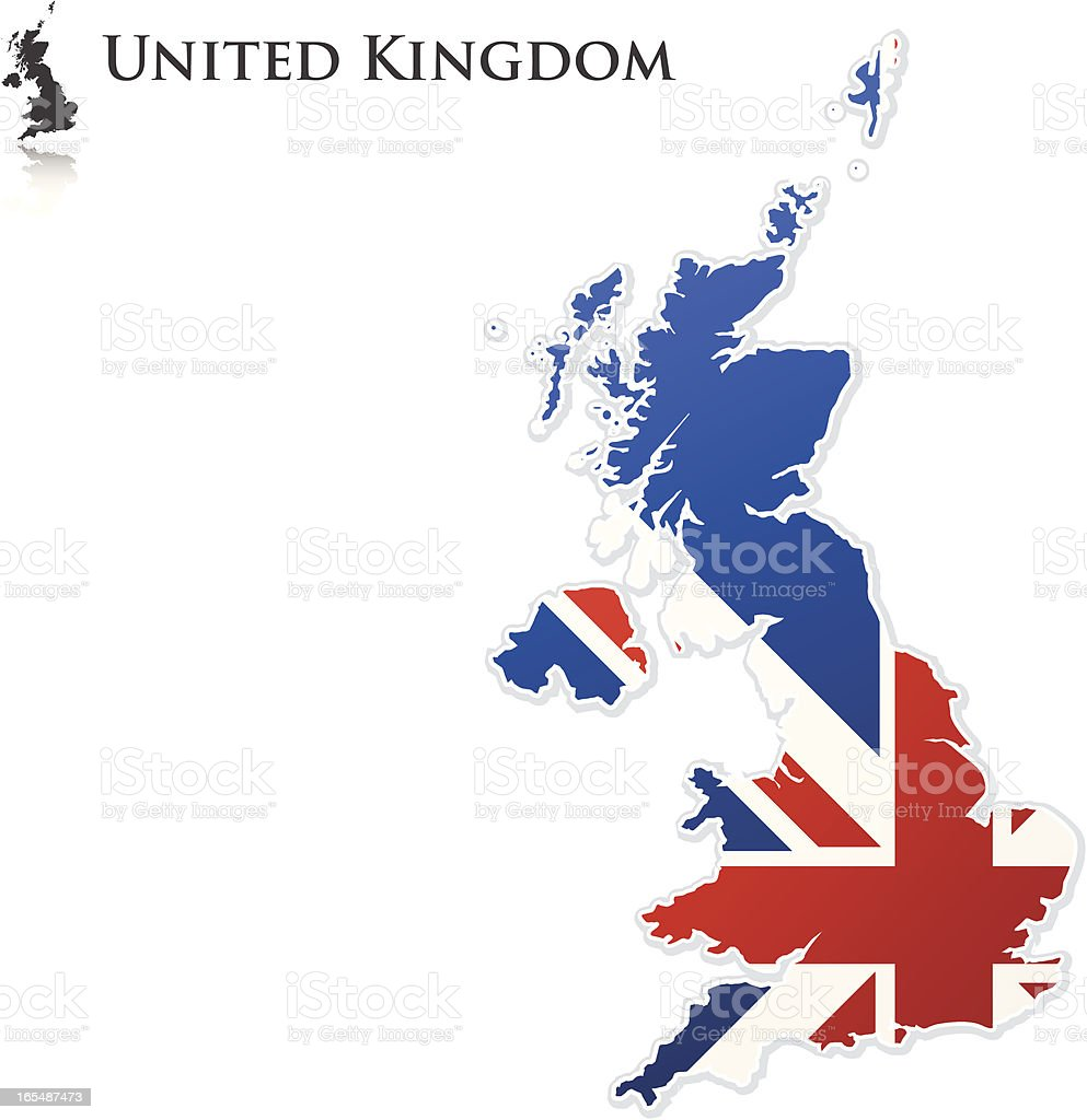 UK Flag Map royalty-free uk flag map stock vector art & more images of blue