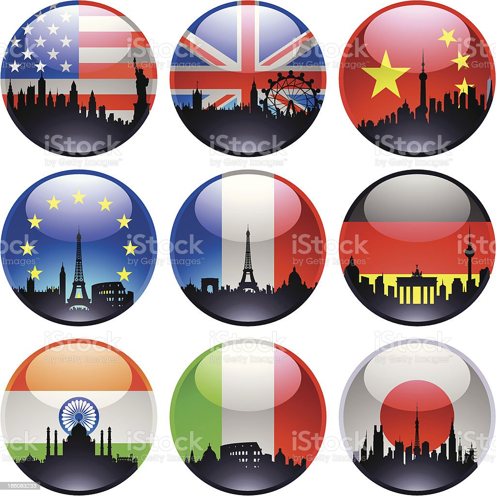 Flag Marbles royalty-free stock vector art