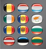 World flags buttons set 3.