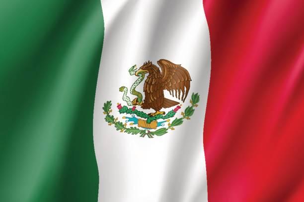 ilustraciones, imágenes clip art, dibujos animados e iconos de stock de realista icono de bandera méxico - bandera mexicana