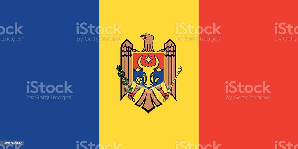 Flag Moldova vector art illustration