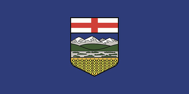 Flag of Alberta vector art illustration