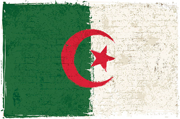 flag of algeria on wall - 阿爾及利亞 幅插畫檔、美工圖案、卡通及圖標