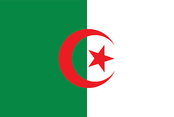 flag of algeria - 阿爾及利亞 幅插畫檔、美工圖案、卡通及圖標