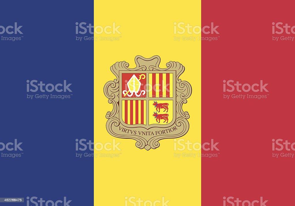 Flag of Andorra vector art illustration