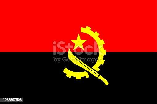 istock Flag of Angola 1063897508