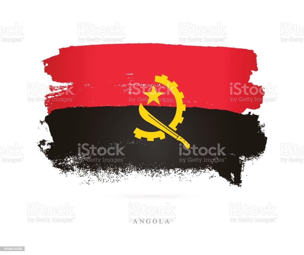 Flag of Angola. Vector illustration vector art illustration