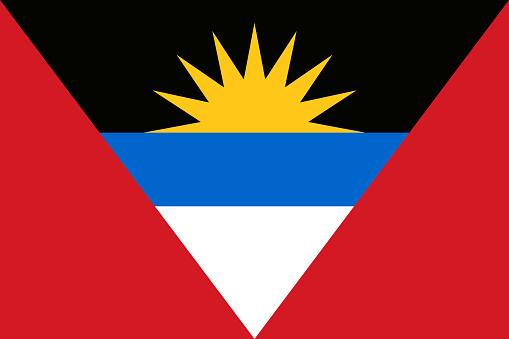 Flag of Antigua and Barbuda. Vector illustration. World flag