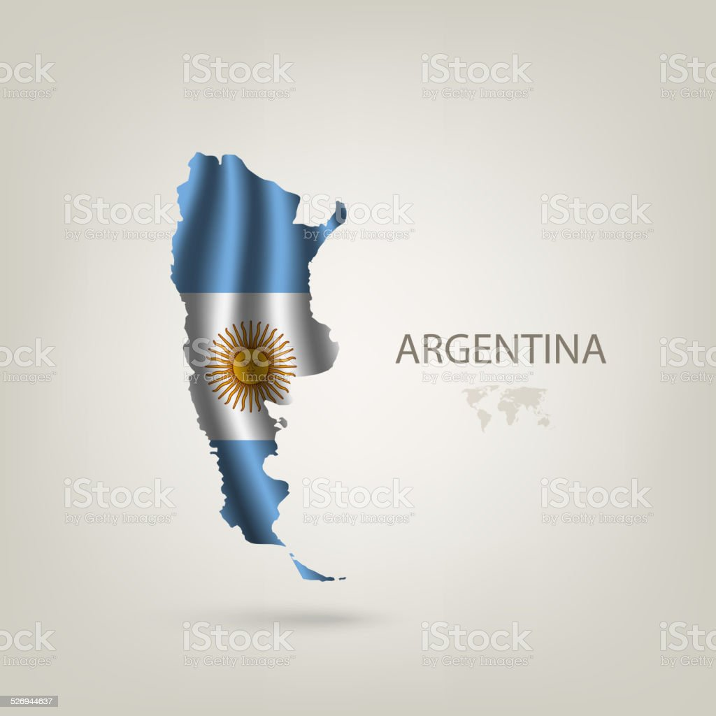 Flag of Argentina as a country vector art illustration