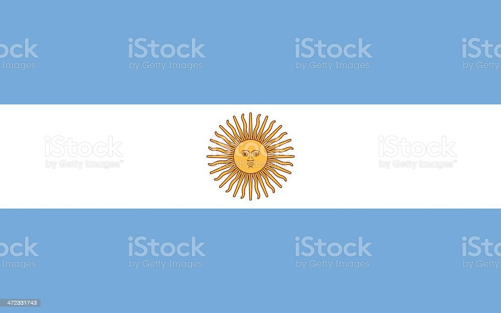 Flag of Argentina vector art illustration