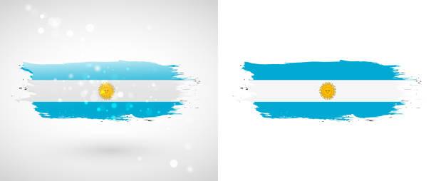 flag of argentina - argentina flag stock illustrations, clip art, cartoons, & icons