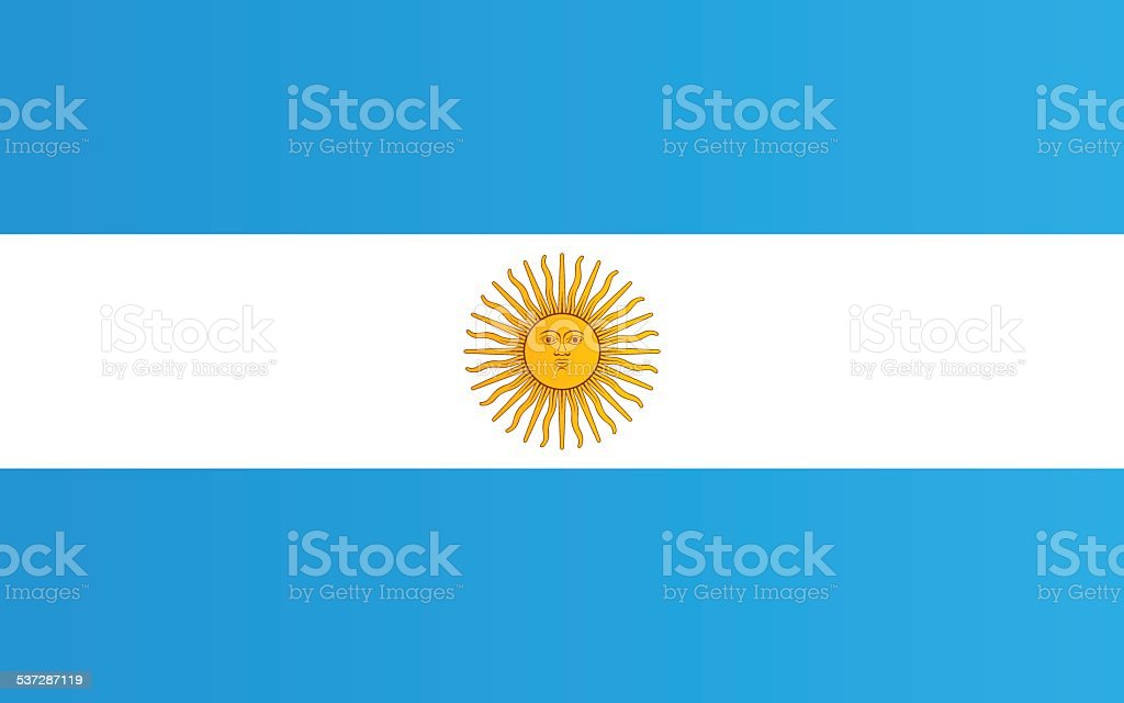 Flag of Argentina vektorkonstillustration